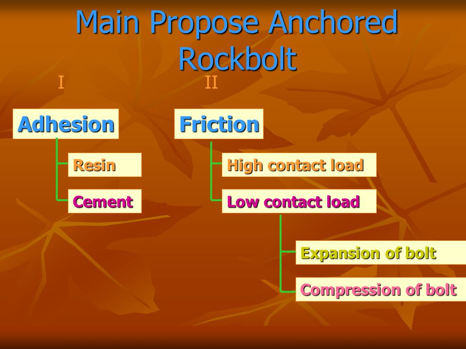 Main Propose Anchored Rockbolt
