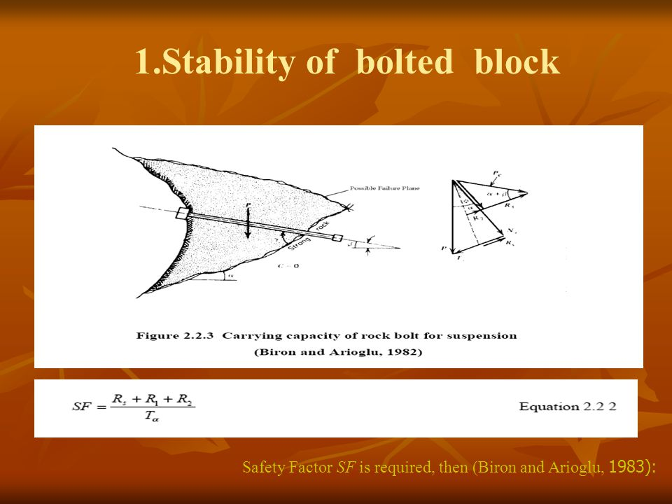 1.Stability of bolted block