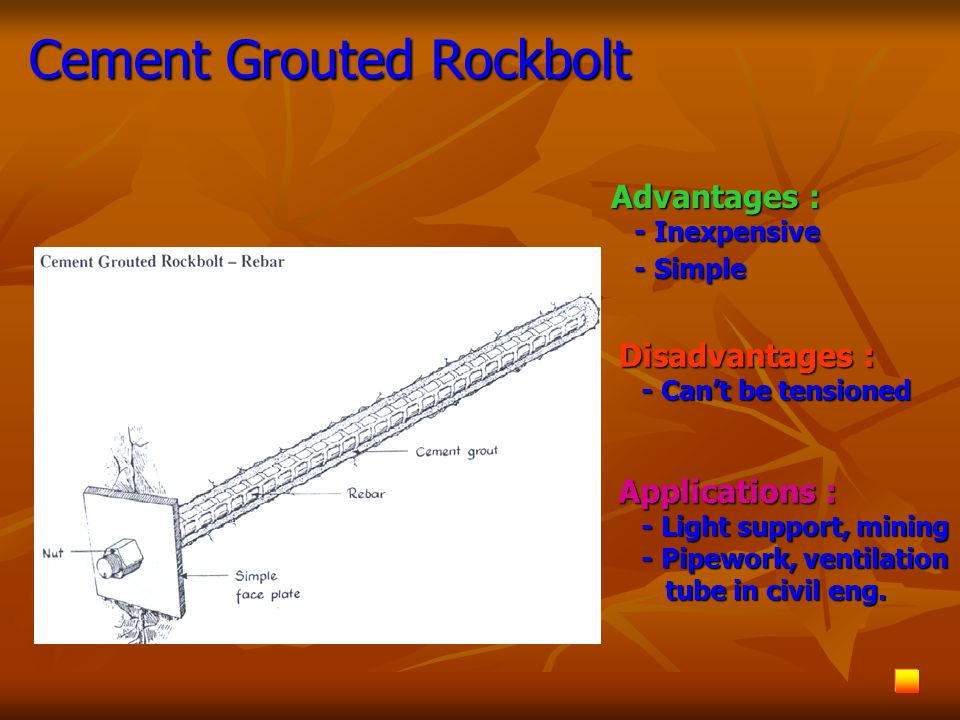 Cement Grouted Rockbolt