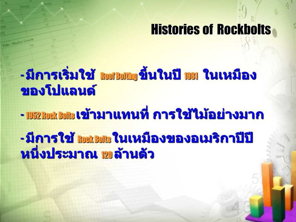 Histories of Rockbolts