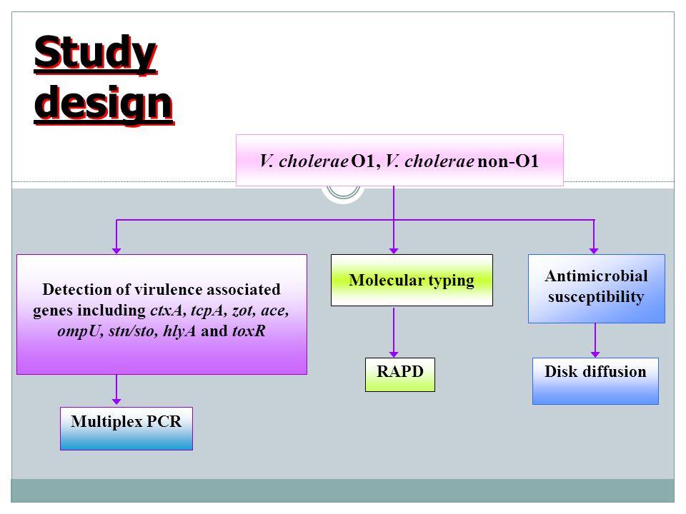 Antimicrobial susceptibility V. cholerae O1, V. cholerae non-O1