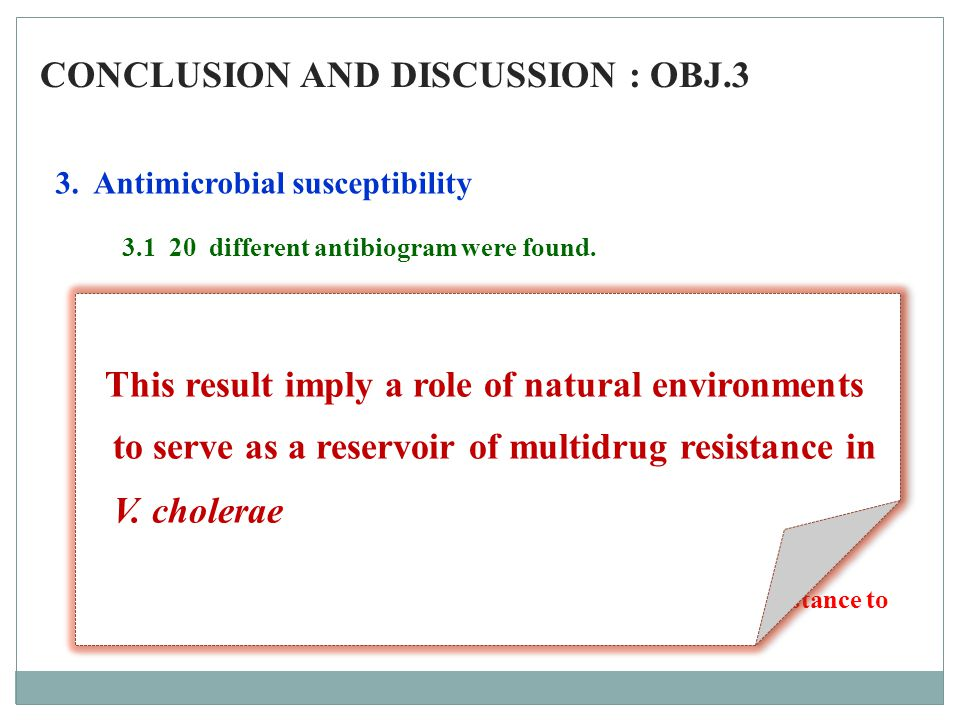 CONCLUSION AND DISCUSSION : OBJ.3
