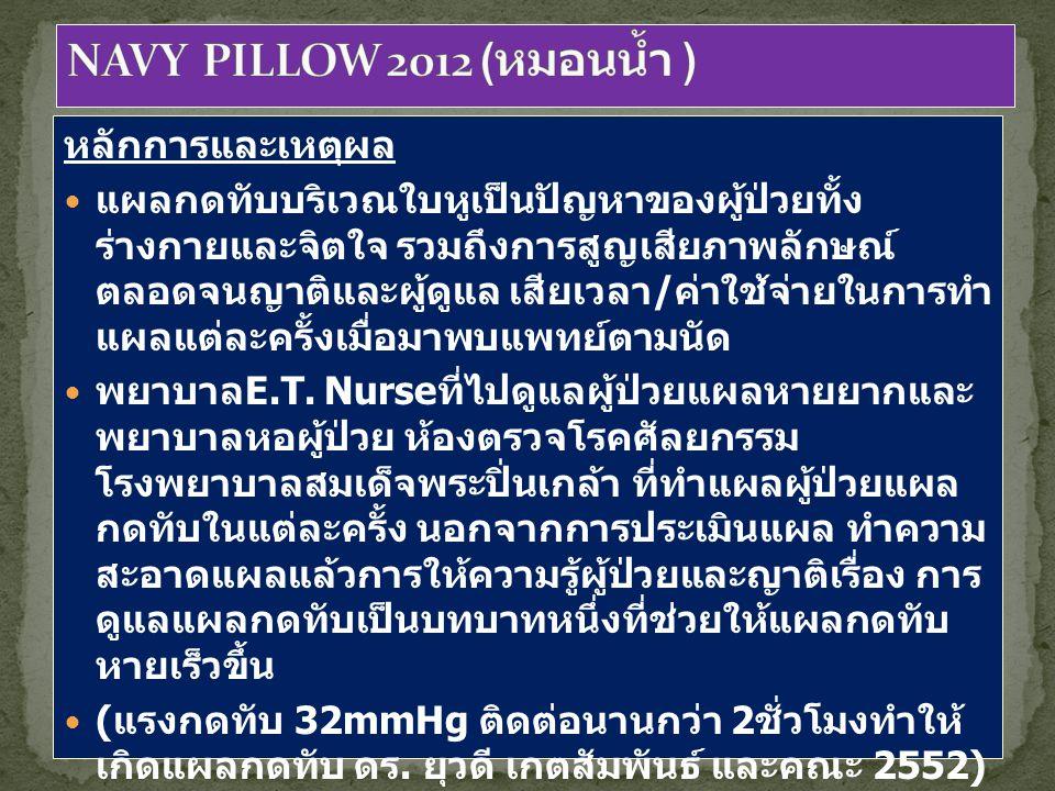 NAVY PILLOW 2012 (หมอนน้ำ ) หลักการและเหตุผล