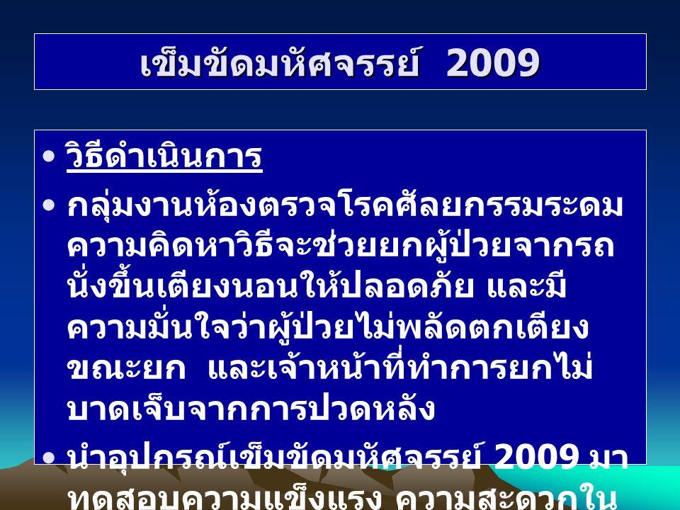 เข็มขัดมหัศจรรย์ 2009 วิธีดำเนินการ