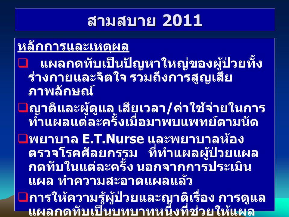 สามสบาย 2011 หลักการและเหตุผล