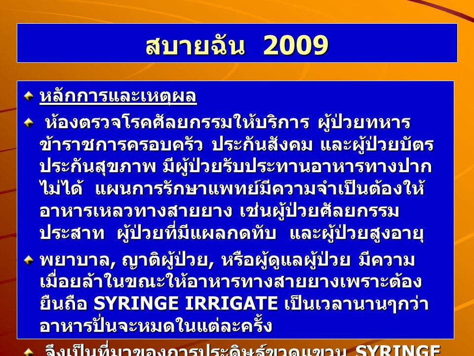 สบายฉัน 2009 หลักการและเหตุผล