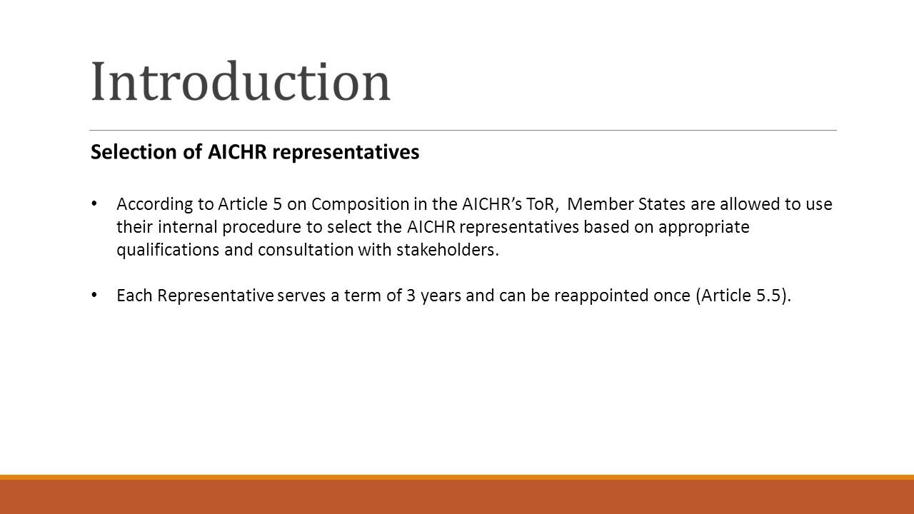 Selection of AICHR representatives