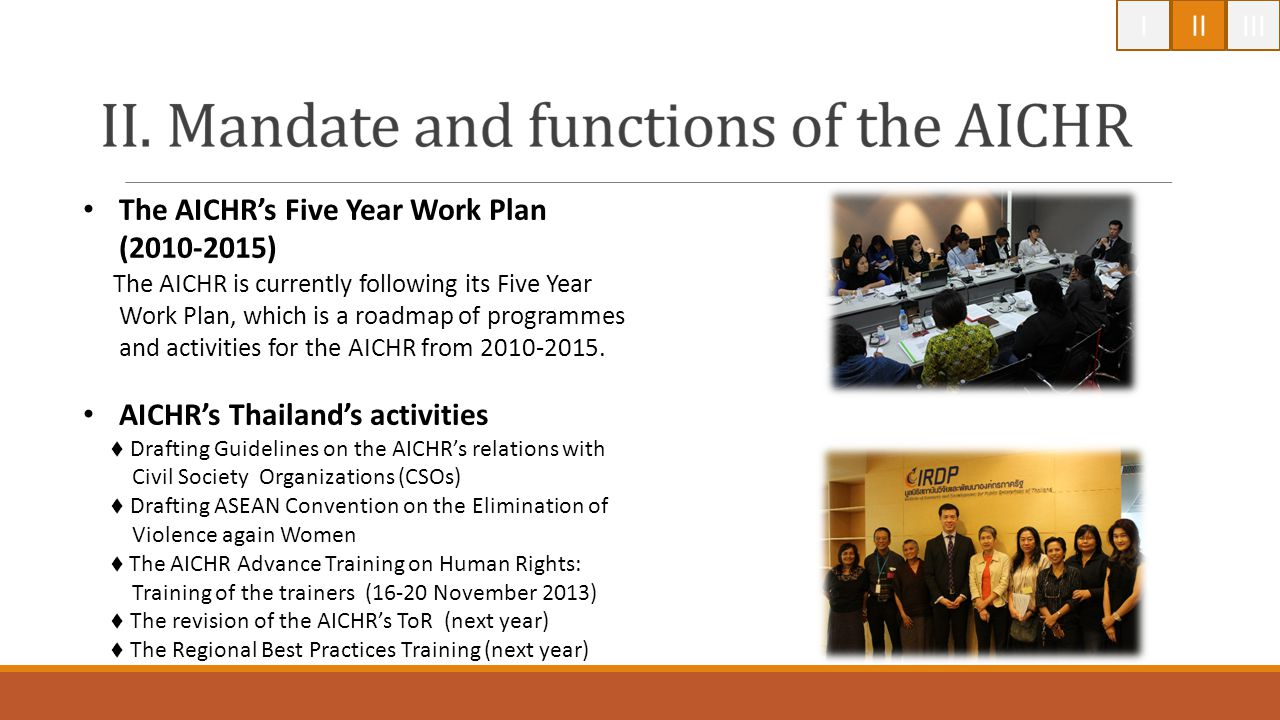 The AICHR's Five Year Work Plan (2010-2015)