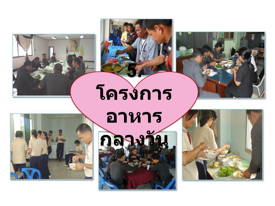 5. โครงการอาหารกลางวัน