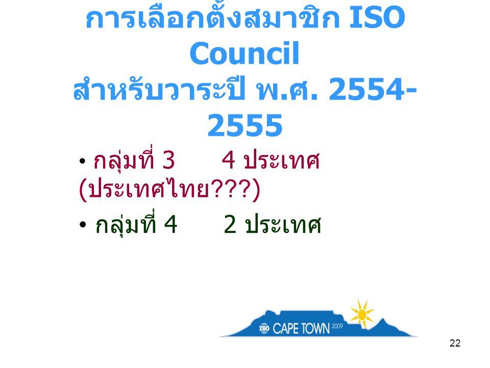 การเลือกตั้งสมาชิก ISO Council สำหรับวาระปี พ.ศ. 2554-2555