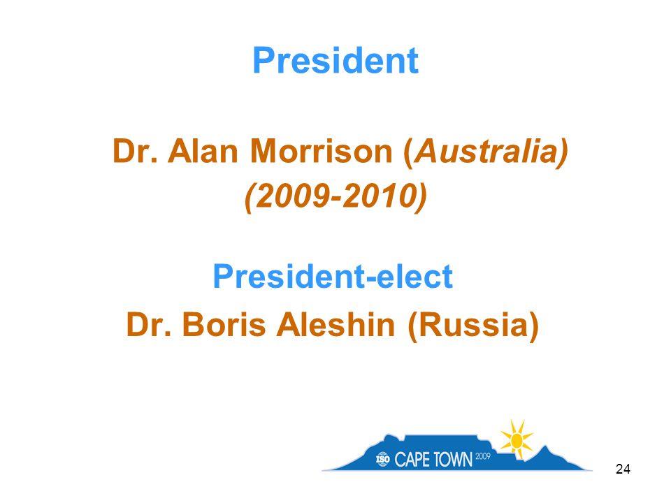 President Dr. Alan Morrison (Australia) (2009-2010)