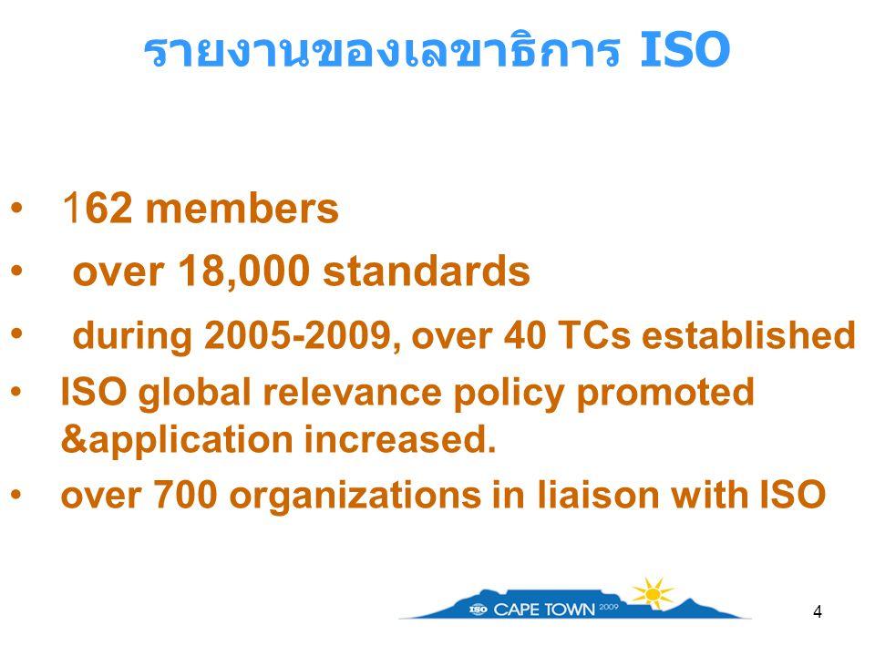 รายงานของเลขาธิการ ISO