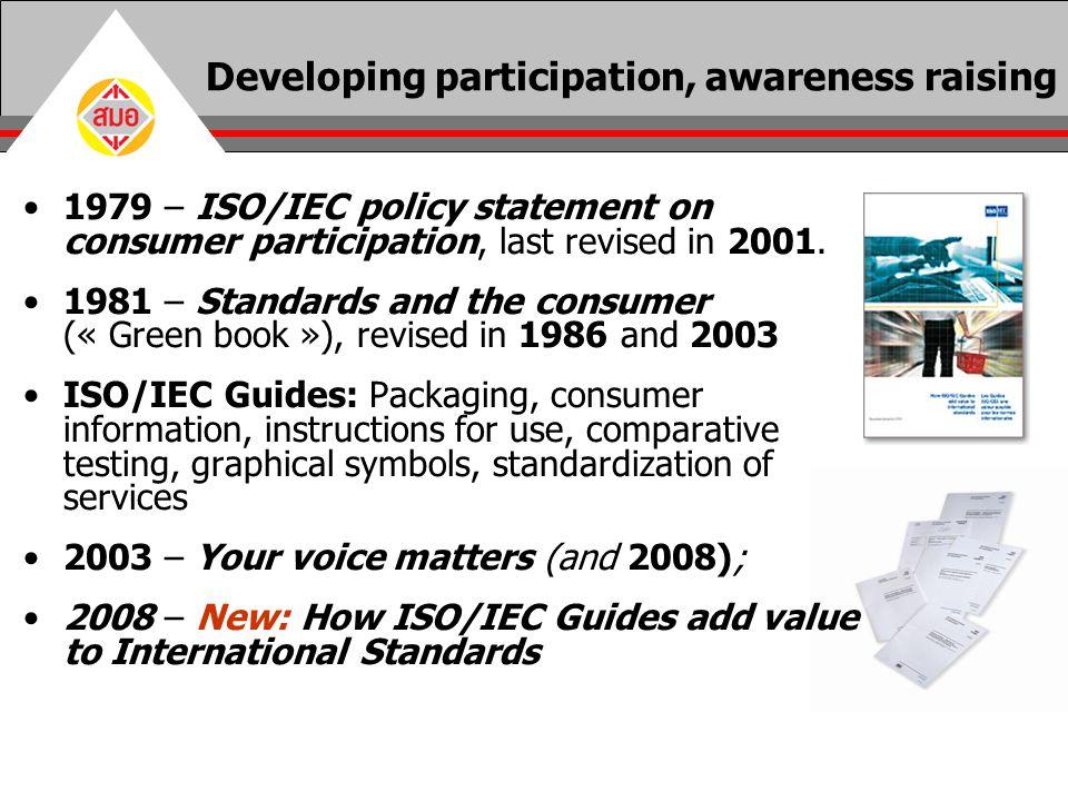 Developing participation, awareness raising