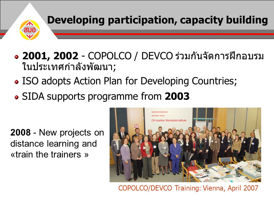 Developing participation, capacity building