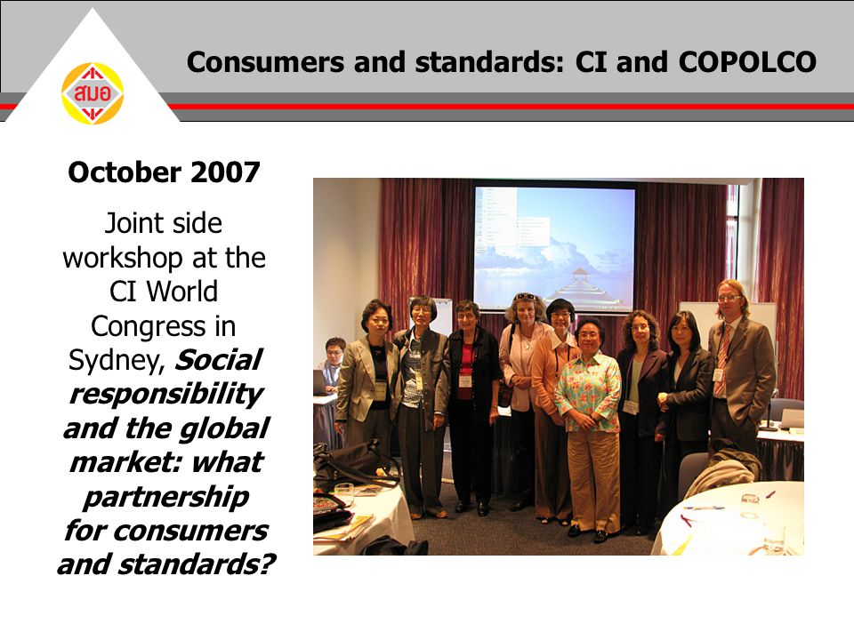 Consumers and standards: CI and COPOLCO
