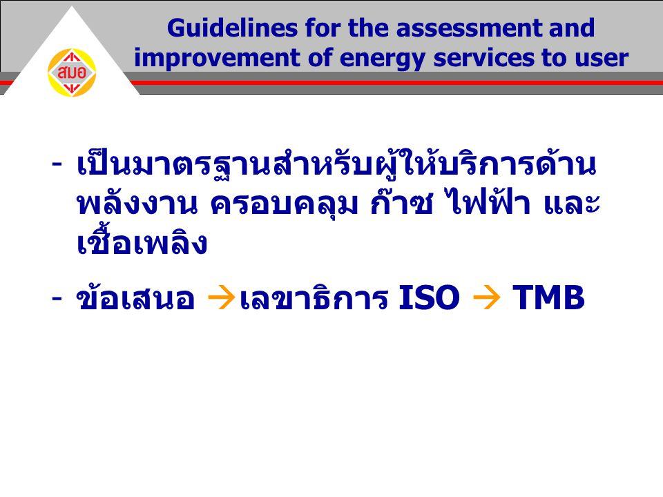 ข้อเสนอ เลขาธิการ ISO  TMB