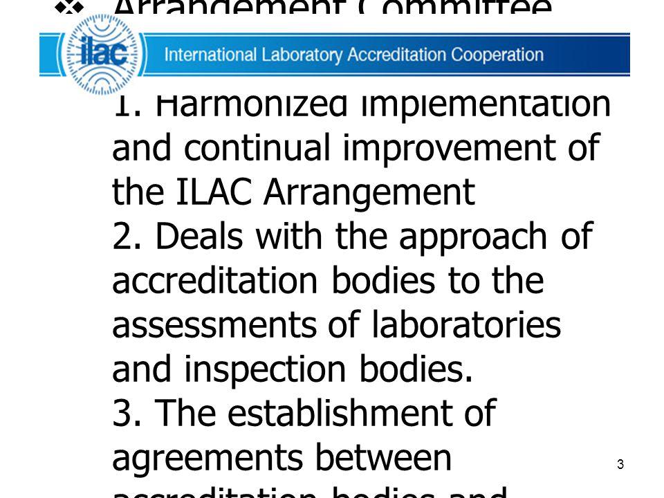 Arrangement Committee (ARC) มีหน้าที่ 1