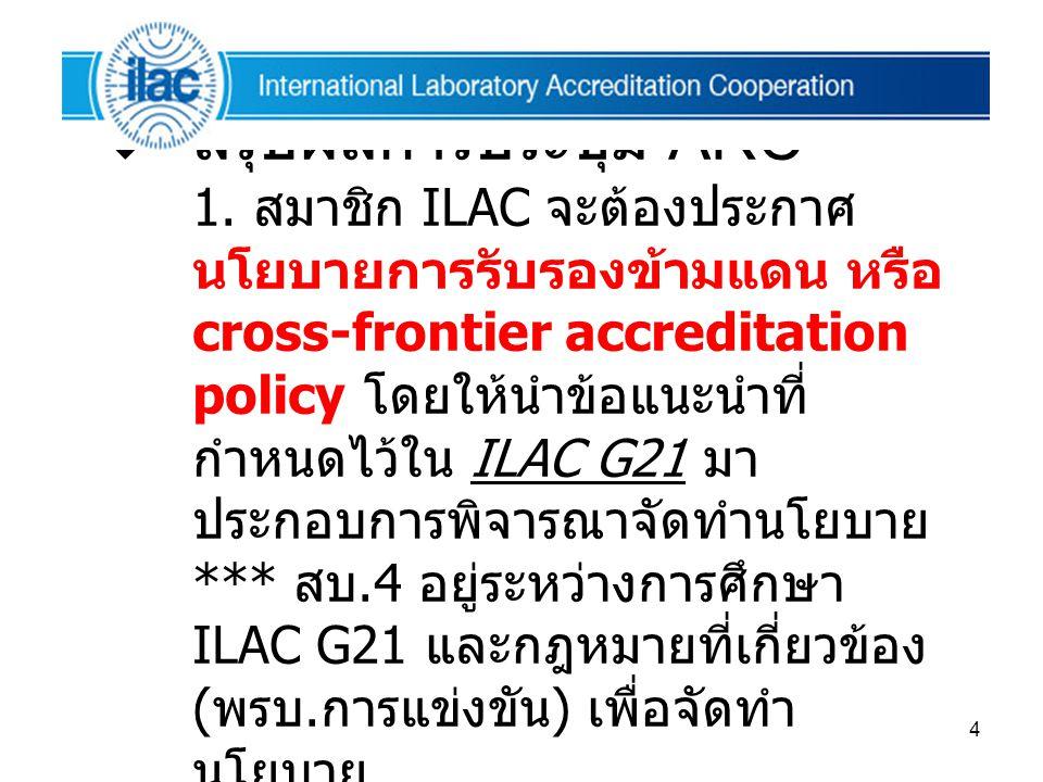 สรุปผลการประชุม ARC 1.