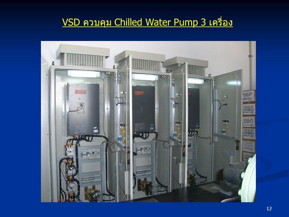 VSD ควบคุม Chilled Water Pump 3 เครื่อง