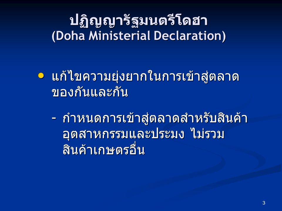 ปฏิญญารัฐมนตรีโดฮา (Doha Ministerial Declaration)