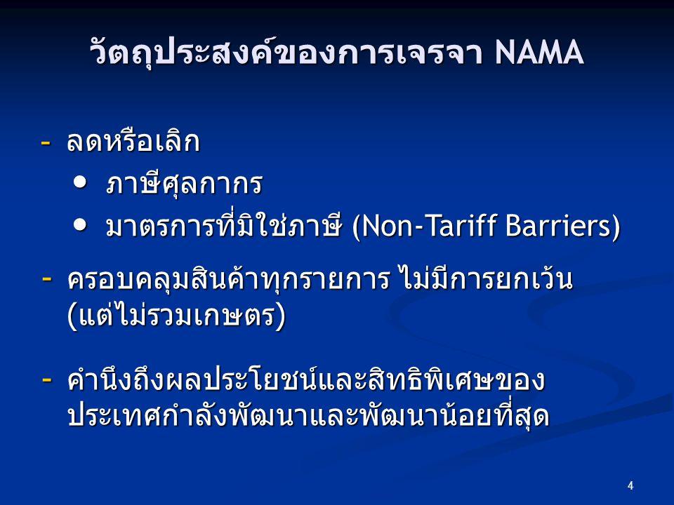 วัตถุประสงค์ของการเจรจา NAMA