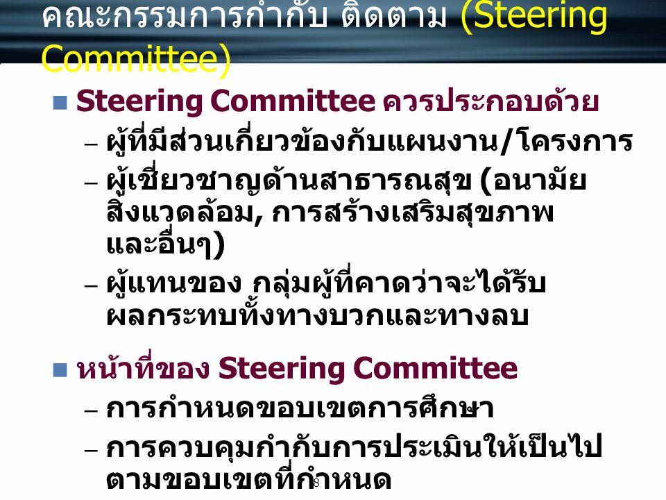 คณะกรรมการกำกับ ติดตาม (Steering Committee)