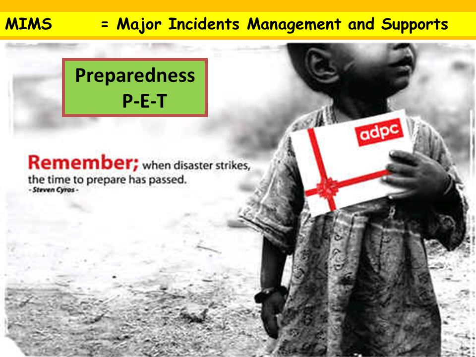 MIMS = Major Incidents Management and Supports