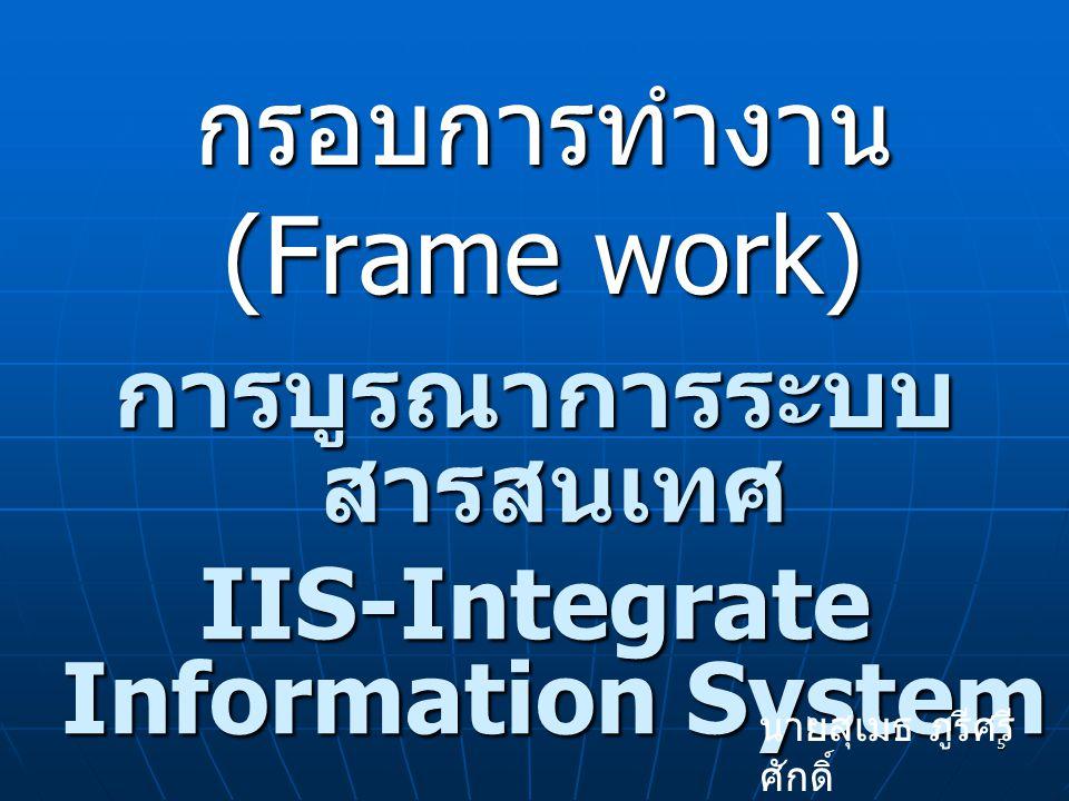 กรอบการทำงาน (Frame work)