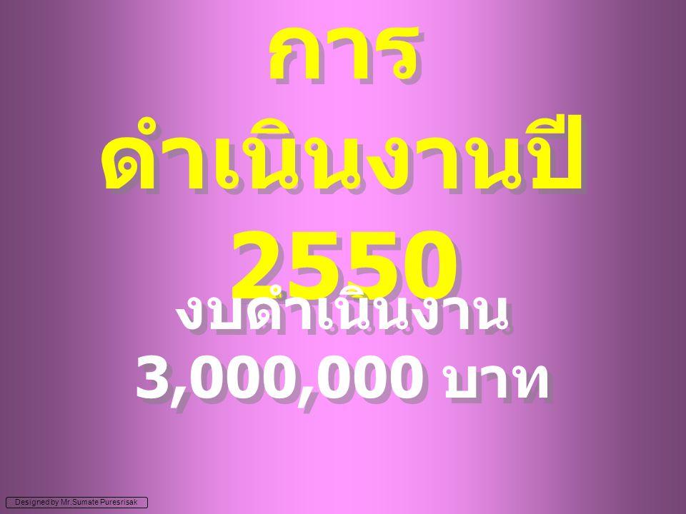 การดำเนินงานปี 2550 งบดำเนินงาน 3,000,000 บาท