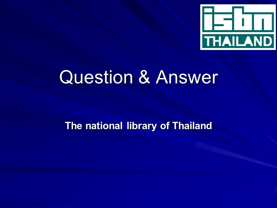The national library of Thailand