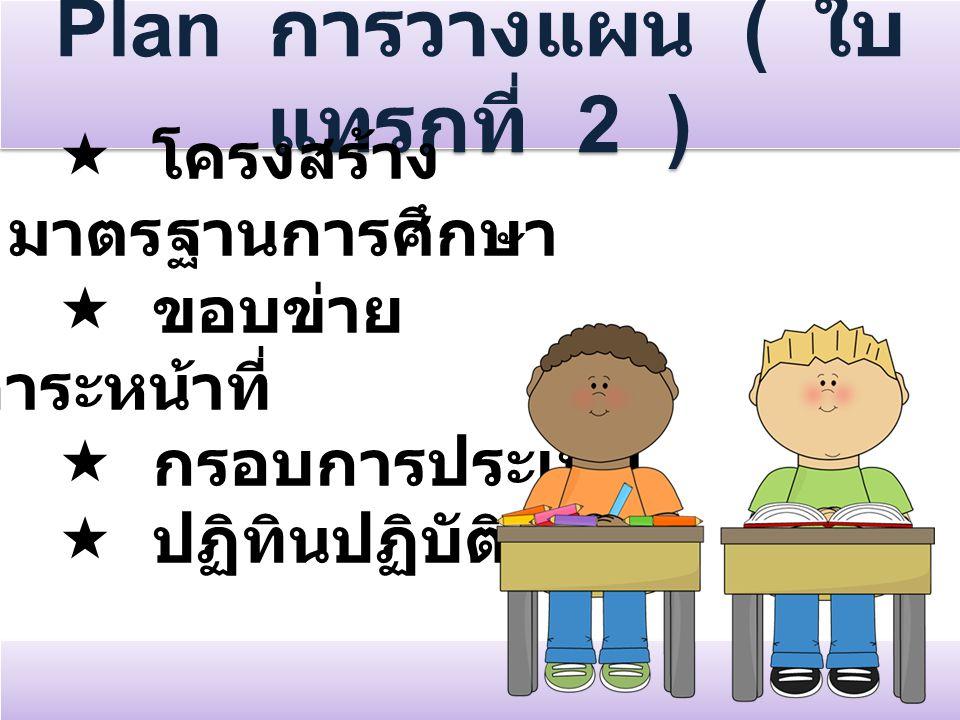 Plan การวางแผน ( ใบแทรกที่ 2 )