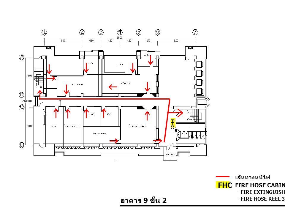 FHC อาคาร 9 ชั้น 2 เส้นทางหนีไฟ FIRE HOSE CABINET FHC