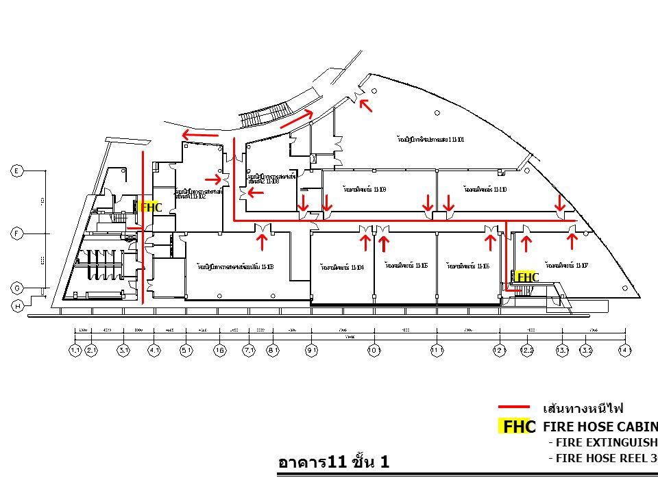 FHC อาคาร11 ชั้น 1 เส้นทางหนีไฟ FIRE HOSE CABINET FHC FHC