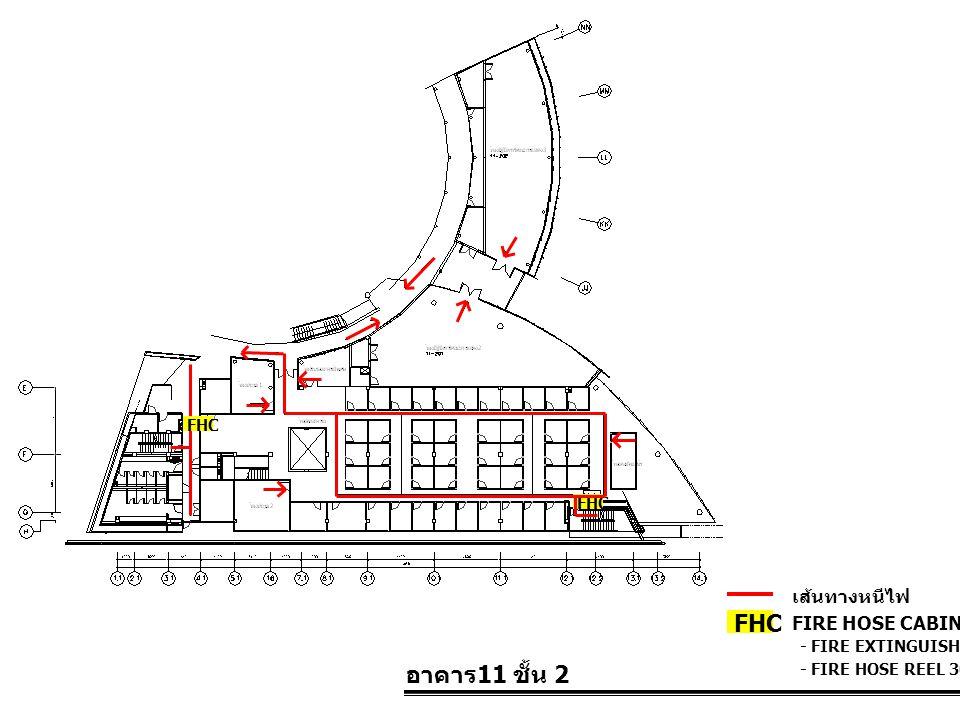 FHC อาคาร11 ชั้น 2 เส้นทางหนีไฟ FIRE HOSE CABINET FHC FHC