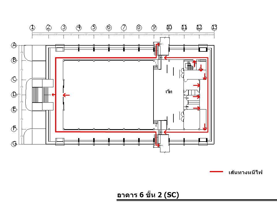 เส้นทางหนีไฟ อาคาร 6 ชั้น 2 (SC)