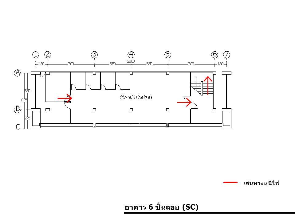 เส้นทางหนีไฟ อาคาร 6 ชั้นลอย (SC)