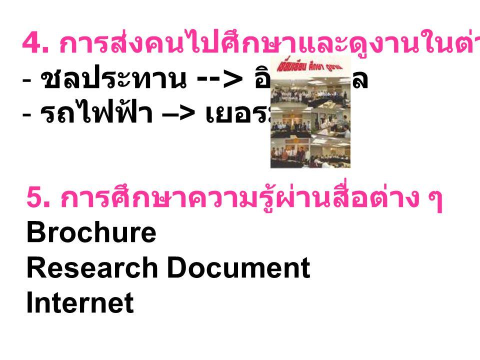 4. การส่งคนไปศึกษาและดูงานในต่างประเทศ