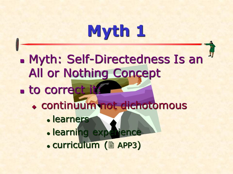 Myth 1 Myth: Self-Directedness Is an All or Nothing Concept