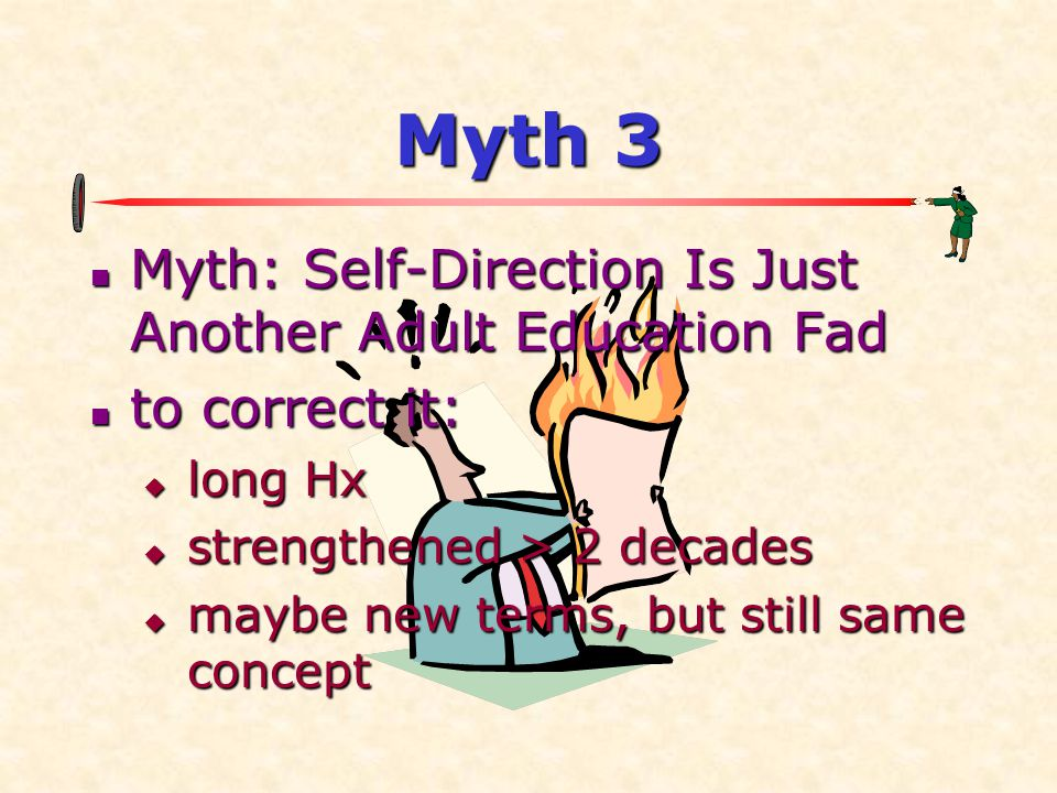 Myth 3 Myth: Self-Direction Is Just Another Adult Education Fad