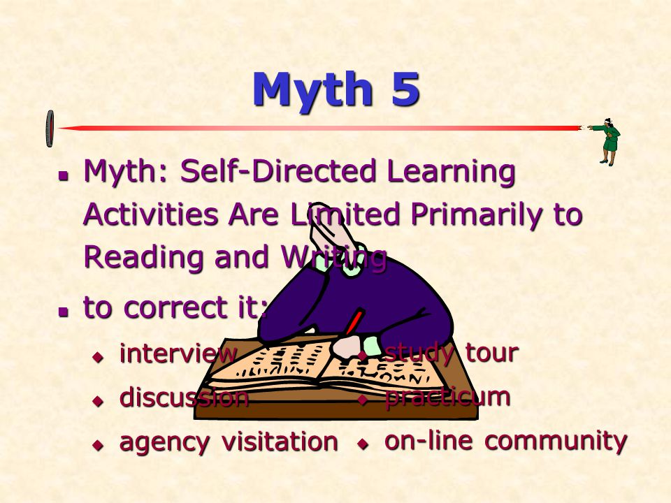 Myth 5 Myth: Self-Directed Learning Activities Are Limited Primarily to Reading and Writing. to correct it: