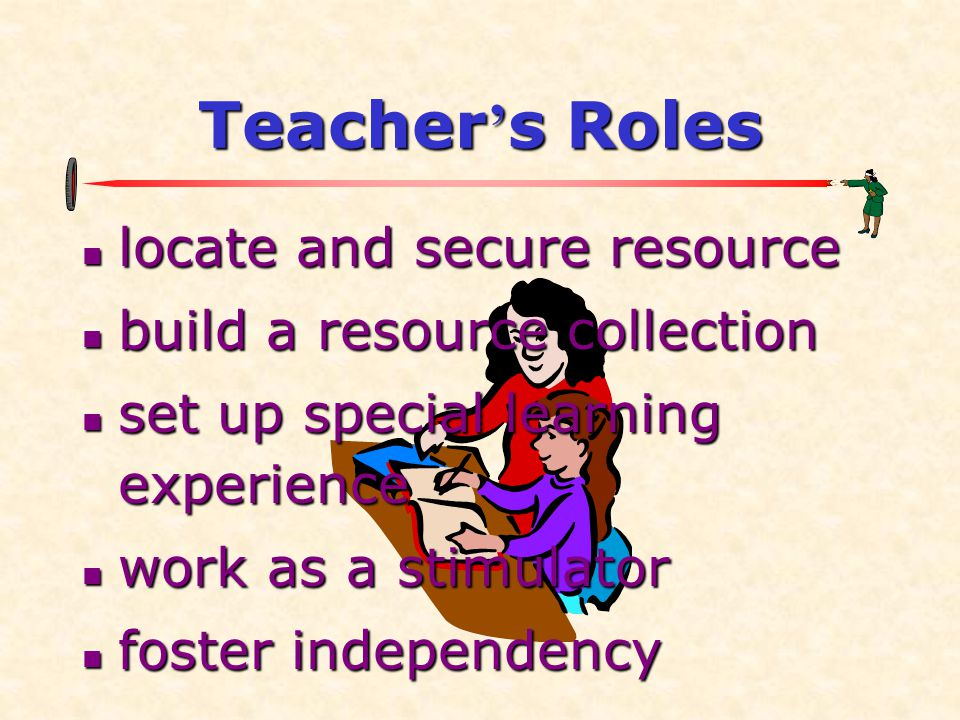 Teacher's Roles locate and secure resource build a resource collection