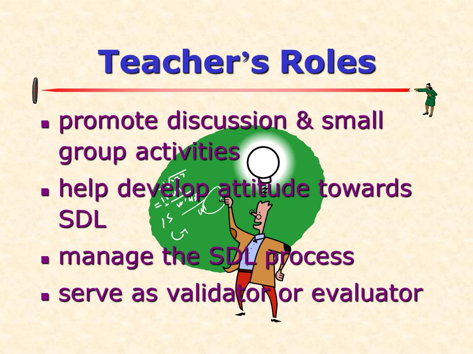 Teacher's Roles promote discussion & small group activities