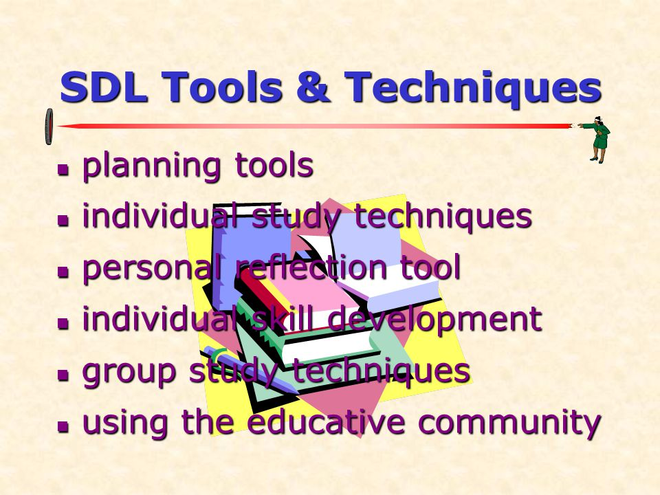 SDL Tools & Techniques planning tools individual study techniques