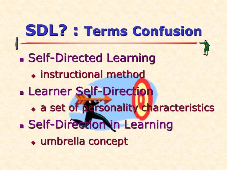 SDL : Terms Confusion Self-Directed Learning Learner Self-Direction