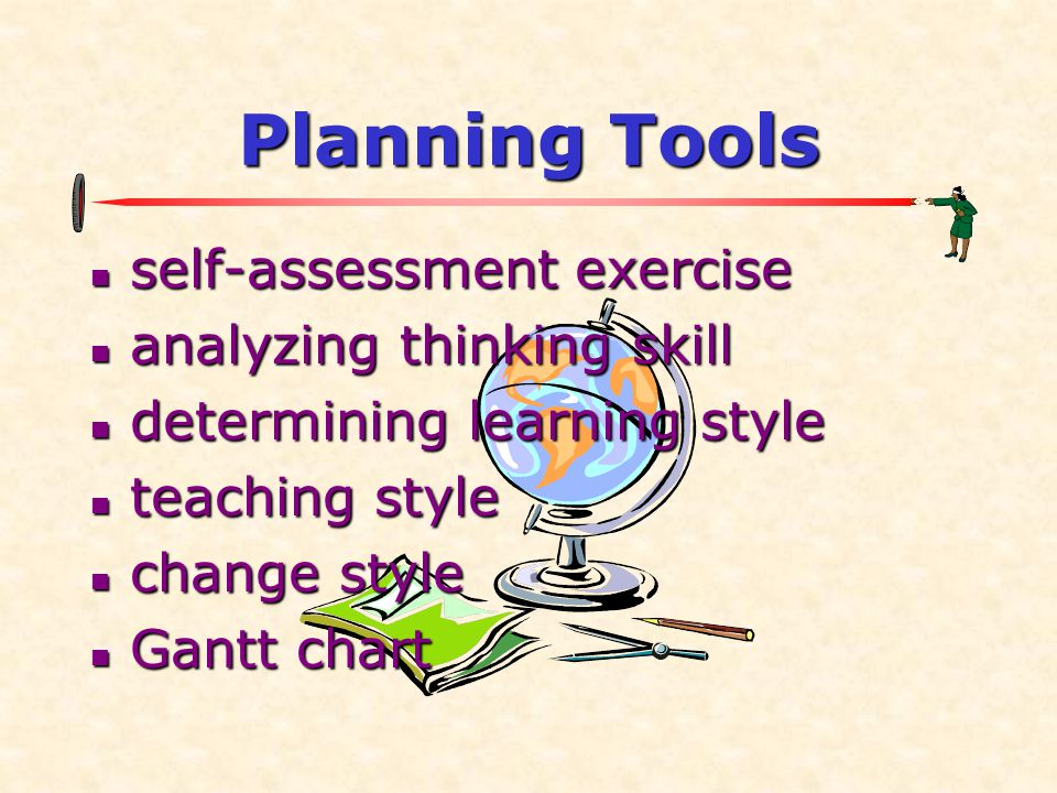 Planning Tools self-assessment exercise analyzing thinking skill