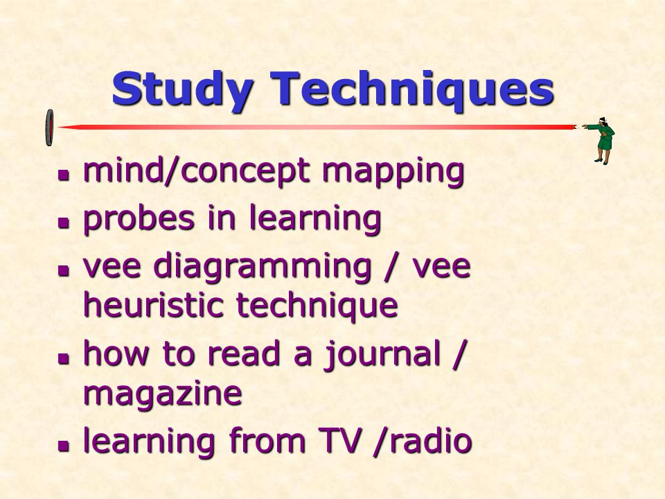 Study Techniques mind/concept mapping probes in learning