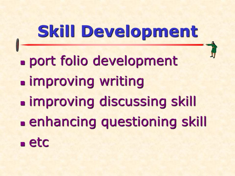 Skill Development port folio development improving writing