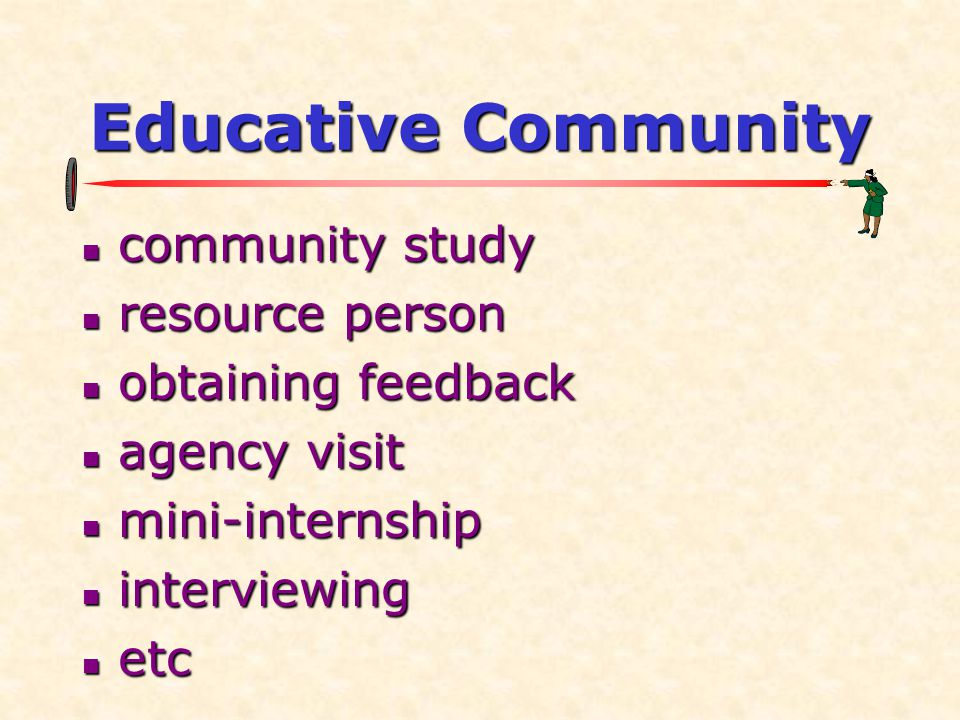 Educative Community community study resource person obtaining feedback