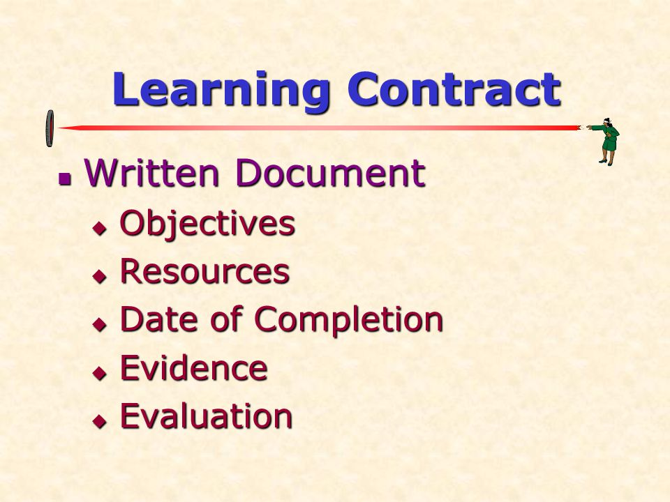 Learning Contract Written Document Objectives Resources