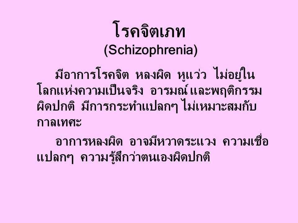 โรคจิตเภท (Schizophrenia)